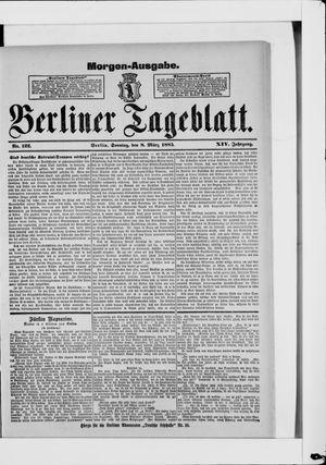 Berliner Tageblatt und Handels-Zeitung vom 08.03.1885