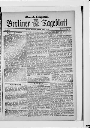 Berliner Tageblatt und Handels-Zeitung vom 10.03.1885