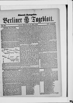 Berliner Tageblatt und Handels-Zeitung vom 11.03.1885