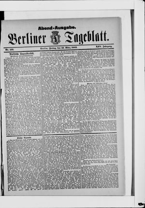 Berliner Tageblatt und Handels-Zeitung vom 13.03.1885