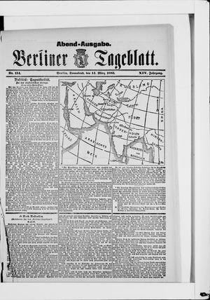 Berliner Tageblatt und Handels-Zeitung vom 14.03.1885