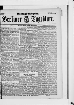 Berliner Tageblatt und Handels-Zeitung vom 23.03.1885