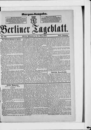 Berliner Tageblatt und Handels-Zeitung vom 25.03.1885