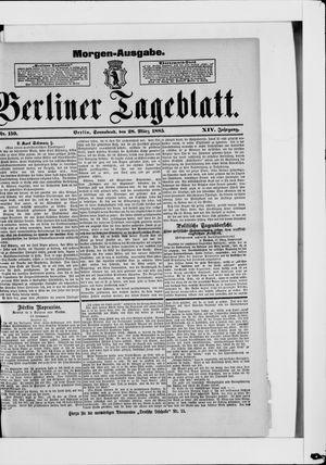 Berliner Tageblatt und Handels-Zeitung vom 28.03.1885
