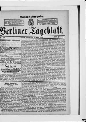 Berliner Tageblatt und Handels-Zeitung vom 31.03.1885