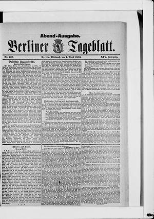 Berliner Tageblatt und Handels-Zeitung vom 01.04.1885