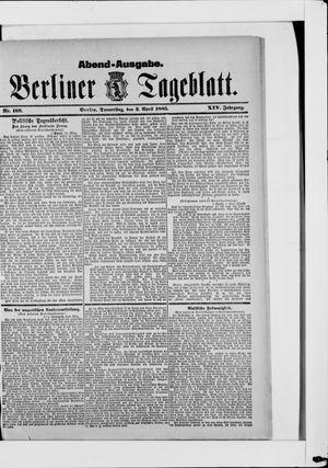Berliner Tageblatt und Handels-Zeitung vom 02.04.1885