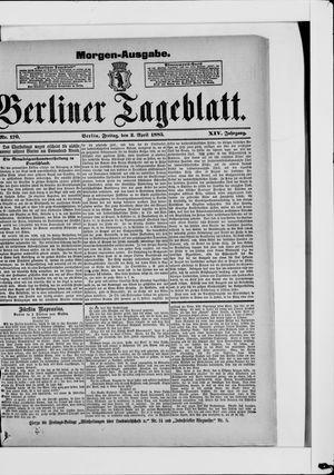 Berliner Tageblatt und Handels-Zeitung vom 03.04.1885