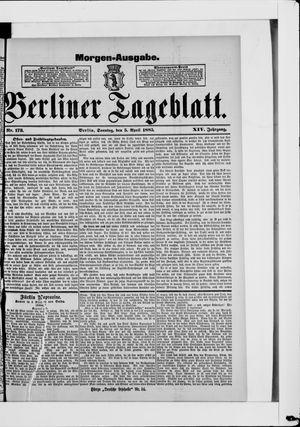 Berliner Tageblatt und Handels-Zeitung vom 05.04.1885
