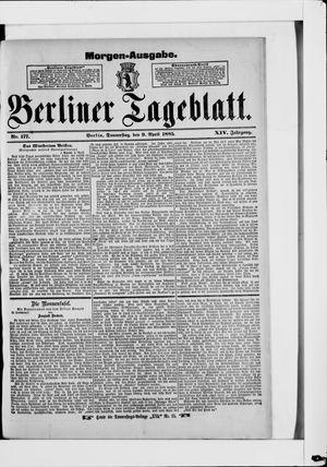 Berliner Tageblatt und Handels-Zeitung vom 09.04.1885