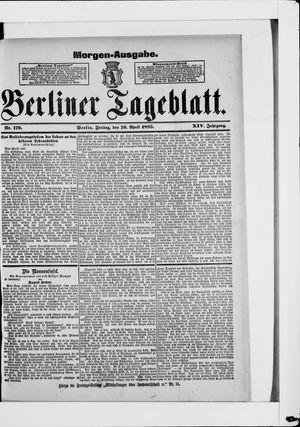 Berliner Tageblatt und Handels-Zeitung vom 10.04.1885