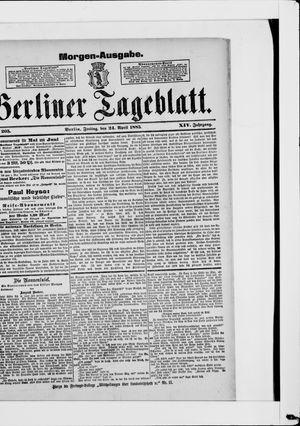 Berliner Tageblatt und Handels-Zeitung vom 24.04.1885