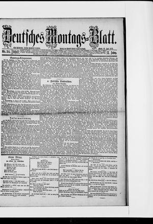 Berliner Tageblatt und Handels-Zeitung vom 15.06.1885