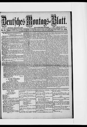 Berliner Tageblatt und Handels-Zeitung vom 22.06.1885
