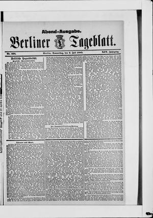 Berliner Tageblatt und Handels-Zeitung vom 02.07.1885