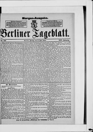 Berliner Tageblatt und Handels-Zeitung vom 03.07.1885