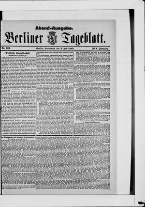 Berliner Tageblatt und Handels-Zeitung vom 04.07.1885