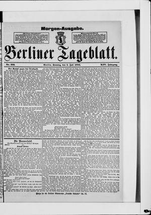 Berliner Tageblatt und Handels-Zeitung vom 05.07.1885