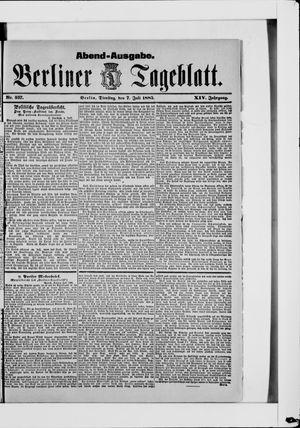 Berliner Tageblatt und Handels-Zeitung vom 07.07.1885
