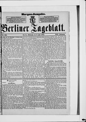 Berliner Tageblatt und Handels-Zeitung on Jul 8, 1885