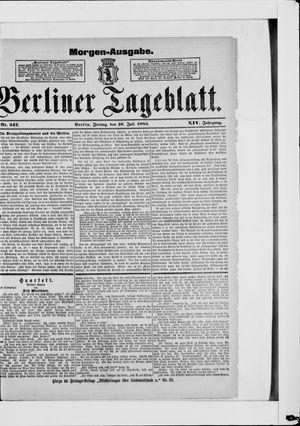 Berliner Tageblatt und Handels-Zeitung on Jul 10, 1885