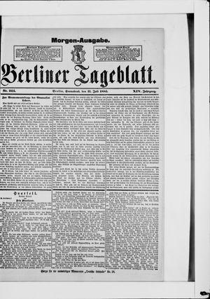 Berliner Tageblatt und Handels-Zeitung vom 11.07.1885