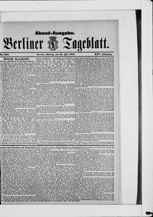 Berliner Tageblatt und Handels-Zeitung vom 13.07.1885