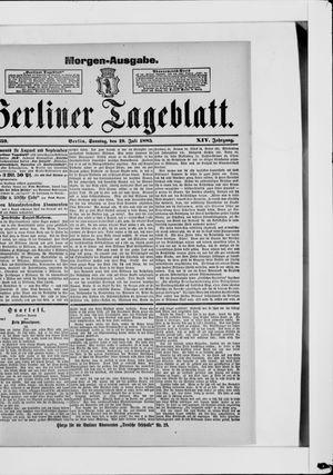 Berliner Tageblatt und Handels-Zeitung vom 19.07.1885