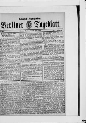 Berliner Tageblatt und Handels-Zeitung vom 20.07.1885