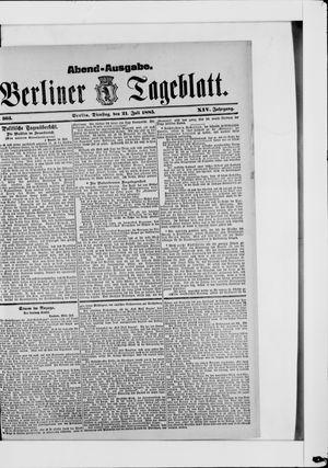 Berliner Tageblatt und Handels-Zeitung vom 21.07.1885