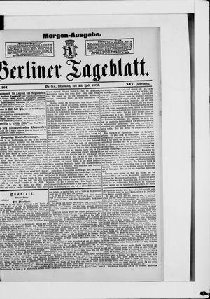 Berliner Tageblatt und Handels-Zeitung vom 22.07.1885