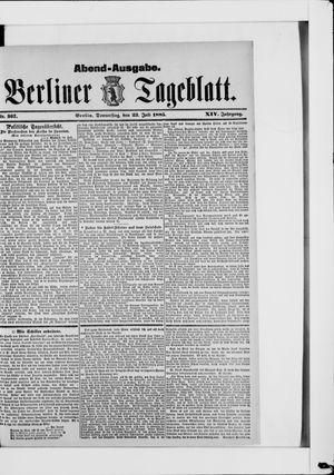 Berliner Tageblatt und Handels-Zeitung vom 23.07.1885