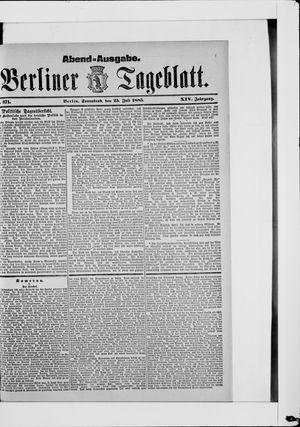 Berliner Tageblatt und Handels-Zeitung vom 25.07.1885