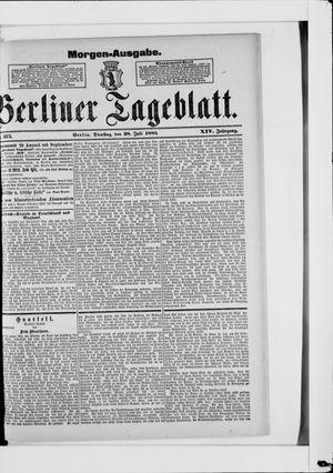 Berliner Tageblatt und Handels-Zeitung vom 28.07.1885