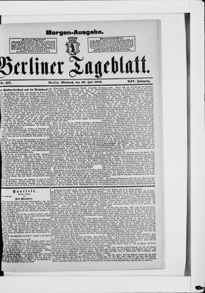Berliner Tageblatt und Handels-Zeitung vom 29.07.1885