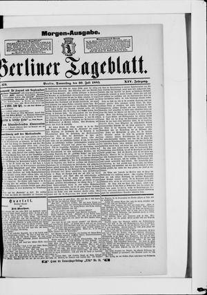 Berliner Tageblatt und Handels-Zeitung vom 30.07.1885