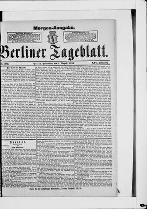 Berliner Tageblatt und Handels-Zeitung vom 01.08.1885