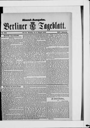 Berliner Tageblatt und Handels-Zeitung vom 04.08.1885