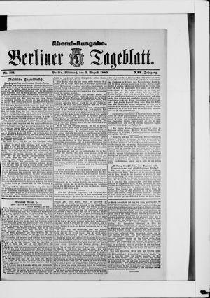 Berliner Tageblatt und Handels-Zeitung vom 05.08.1885