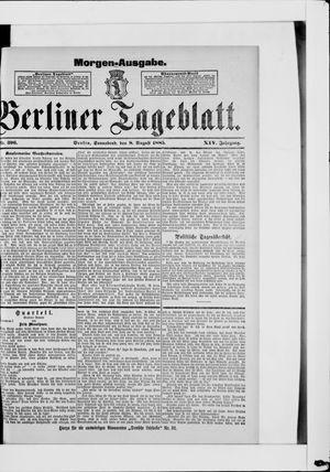 Berliner Tageblatt und Handels-Zeitung vom 08.08.1885