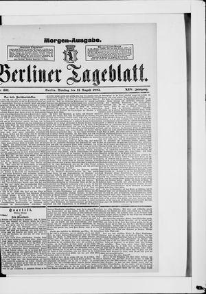 Berliner Tageblatt und Handels-Zeitung vom 11.08.1885