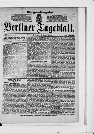Berliner Tageblatt und Handels-Zeitung vom 01.01.1886