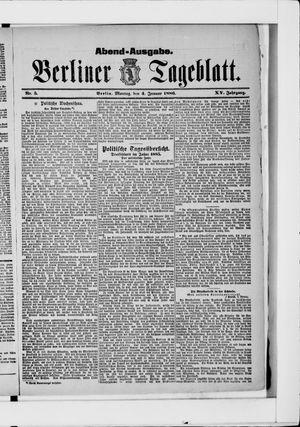 Berliner Tageblatt und Handels-Zeitung vom 04.01.1886