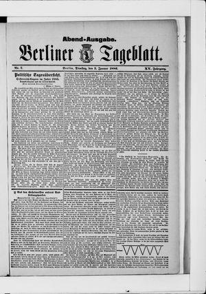 Berliner Tageblatt und Handels-Zeitung vom 05.01.1886