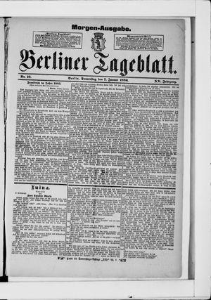 Berliner Tageblatt und Handels-Zeitung vom 07.01.1886