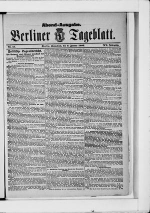 Berliner Tageblatt und Handels-Zeitung vom 09.01.1886