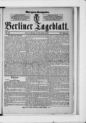 Berliner Tageblatt und Handels-Zeitung vom 10.01.1886