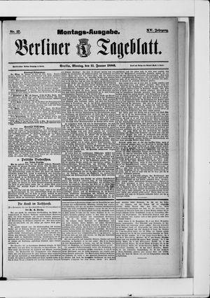 Berliner Tageblatt und Handels-Zeitung vom 11.01.1886