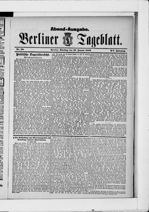 Berliner Tageblatt und Handels-Zeitung vom 12.01.1886