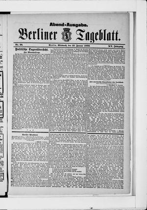 Berliner Tageblatt und Handels-Zeitung vom 13.01.1886